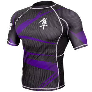 Metaru 47 Silver Rashguard Shortsleeve - Purple