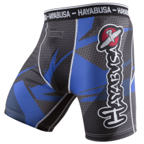 Metaru 47 Silver Compression Shorts - Black/Blue
