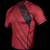 Recast Rashguard Shortsleeve - Red/Black