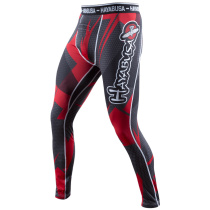Metaru 47 Silver Compression Pants Black/Red